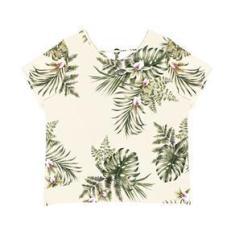 Imagem de Blusa Plus Size Feminina Estampada Secret Glam Bege