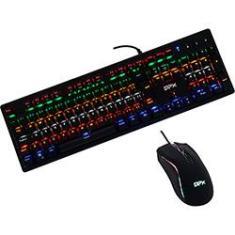 Imagem de Kit Gamer Teclado Mecânico e Mouse 2400 dpi com Iluminação de Led - DPX