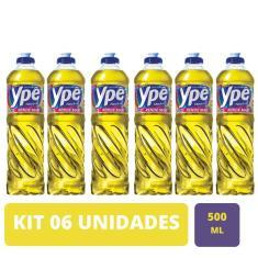 Kit Com 06 Unidades Detergente Ype Líquido Neutro 500Ml
