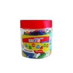 Imagem de Pote Com Letras Em Plástico Alfabeto Móvel 171 Peças