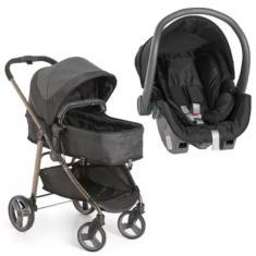 Imagem de Carrinho de Bebê com Bebê Conforto Galzerano Olympus Black