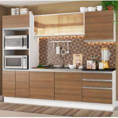 Imagem de Cozinha Completa 3 Gavetas 8 Portas Acordes Glamy Madesa