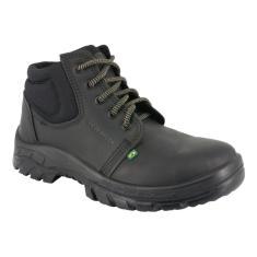 Imagem de Bota Botina Sapato Trabalho Segurança Com Bico Pvc Couro 139