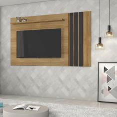 Imagem de Painel para TV até 75 Polegadas 1 Prateira Decorativa Atraente JCM Móveis Noronha/Grafite