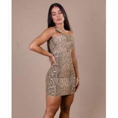 Imagem de Vestido Miss Misses De Lurex Com Animal Print