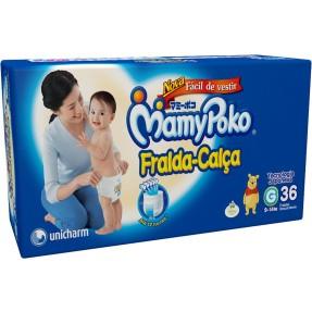 Fralda de Vestir MamyPoko Fralda-Calça Tamanho G Mega 36 Unidades Peso Indicado 9 - 14kg