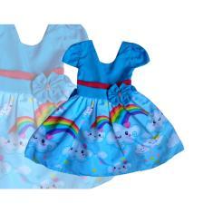 Imagem de Vestido Infantil Temático Chuva Amor  Festa Passeio