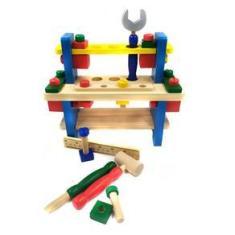 Imagem de Brinquedo Bancada De Ferramentas Infantil Madeira 41 Peças