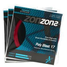 Imagem de Corda Zons Poly Blast 17L 1.25mm  - Set Individual - Pack com 03 Unidades