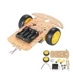 Imagem de 2WD 2-Wheel Smart Car Chassis diy Kit Tracing carro com velocidade Encoder 2 Motor 01:48 para Arduino