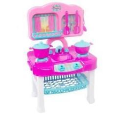 Imagem de Kit Cozinha Infantil Mestre Cuca Com Fogão, Pia E Talheres - Ref. B149