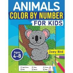 Imagem de Animals Color by Number for Kids