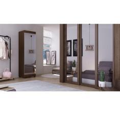 Imagem de Sapateira Gelius Esmeralda 1 Porta Com Espelho - Nogueira