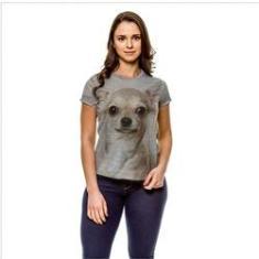 Imagem de Camiseta Cachorro Chihuahua Bege Baby Look GY