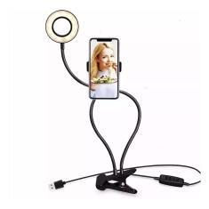 Imagem de Iluminador Circular LED Selfie Ring Light Live Streaming com Suporte de Celular