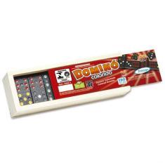 Imagem de Domino colorido em madeira xalingo