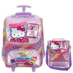 Imagem de Kit Mochila com Rodinhas Hello Kitty Washi Pink com Lancheira