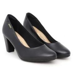 Imagem de Sapato Modare 7305.400 Scarpin Feminino  Salto Grosso Ultra Conforto