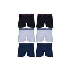 Imagem de Kit Com 6 Cuecas Boxer Box Lupo Em Algodao Confortavel Plus Size Tamanhos Extra Grande Até O 64