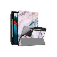 Imagem de Fintie Slim Case para Samsung Galaxy Tab S7 11'' 2020 (Modelo SM-T870/T875/T878) com suporte de caneta S embutido, soft TPU Smart Stand Back Cover Auto Wake/Sleep Feature, Marble Pink