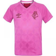 Camisa Edição Especial Infantil Fluminense Outubro Rosa 2020 Umbro
