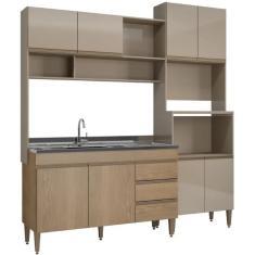 Imagem de Cozinha Compacta 3 Gavetas 8 Portas sem Tampo Milena Soluzione