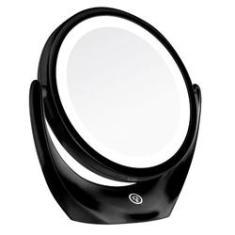 Imagem de espelho para maquiagem de mesa de beleza com led espelho redondo para maquiagem com luz,costas espelho de aumento 5x, ajuste de espelho de 360 graus