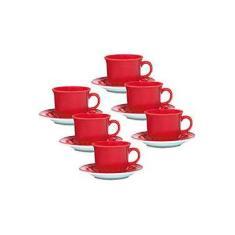 Imagem de Conjunto com 6 Xícaras de Chá 200ml com Pires - Mail Order Renda - Oxford Daily