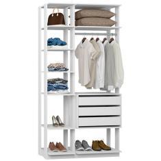 Imagem de Guarda-Roupa Closet 3 Gavetas 9004 Clothes Be Mobiliário