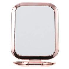 Imagem de Beaupretty Espelho de maquiagem portátil de mesa dupla face, espelho de aumento da penteadeira, espelho dobrável para viagem, espelho de maquiagem