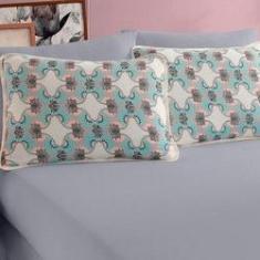Imagem de Jogo de Cama Casal Malha 100% algodão 3 peças lençol com elástico liso e fronhas Vivaldi Londres