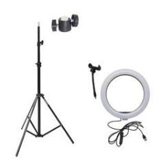 Imagem de Ring Light 10 Com Tripé Grande E Suporte Para Celular Câmera