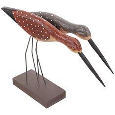 Imagem de ARTIBETTER Pássaro de Madeira Escultura Estátua Estatueta Mar Gaivota Pássaro Standing Pássaro Estátua Animal Estatueta Do Tema Da Praia Decoração Centros De Mesa para Casa Jardim
