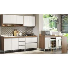 Imagem de Cozinha Compacta 5 Gavetas 7 Portas para Cooktop sem Tampo A08S Menu
