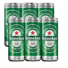 Imagem de Cerveja Heineken Lata 250 Ml Pack Com 06 Unidades