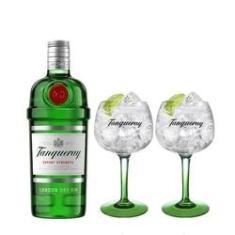 Imagem de Combo Gin Tanqueray London Dry 750ml + 2 Taças Tanqueray Importadas