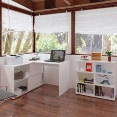 Imagem de Escritório Completo MadeiraMadeira com Mesa 2 Portas de Correr e Estante 6 Nichos 446243