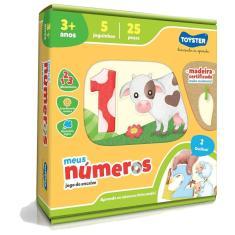 Imagem de Brinquedo Educativo Jogo De Encaixe Números Toyster