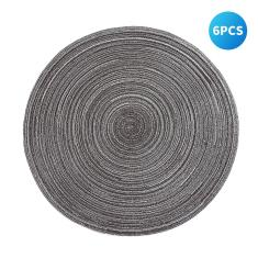Imagem de Tapetes de mesa redondos tecidos com isolamento térmico antiderrapante Tapetes de mesa Mesa de jantar