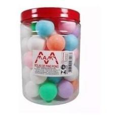 Imagem de 48 Bolas Ping Pong Coloridas Plastico