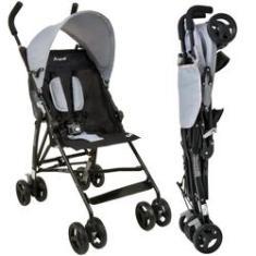 Imagem de Carrinho de Bebê Guarda-Chuva Burigotto Oi Gray Black A Partir de 6 Meses Até 15Kg