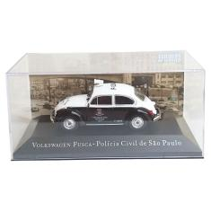 Imagem de Miniatura Volkswagen Fusca Viatura Polícia Civil Baratinha