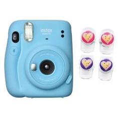 Câmera instantânea Fujifilm Instax Mini 11 Azul + Clip magnético