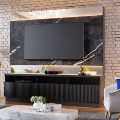 Imagem de Estante Home Theater com LED para TVs até 70 Polegadas Marajó Colibri  Fosco/Grigio