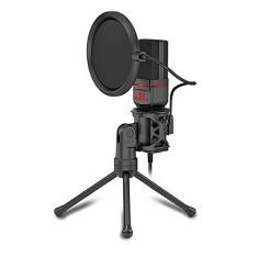 Imagem de Microfone Condensador Redragon Seyfert Conector P2 Cabo 1,8m Ideal para Mesa de Gravação e Vídeos Youtube - GM100