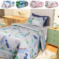 Imagem de Edredom Infantil Solteiro Antialérgico Estampado 215x150cm - BF Colchões