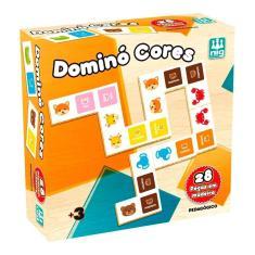 Jogo Pedagógico Dominó Cores Infantil 28 Pcs Colorido - Nig