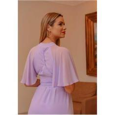 Imagem de  Vestido longo para madrinha Lilás ref.2593 tamanho único