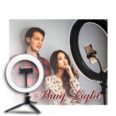 Imagem de Ring Light Iluminador Led 20cm Câmera Suporte Celular Tripé