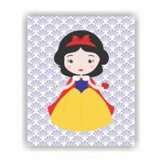 Imagem de Quadro Decorativo Tema Princesas 23x19cm QDLPR04